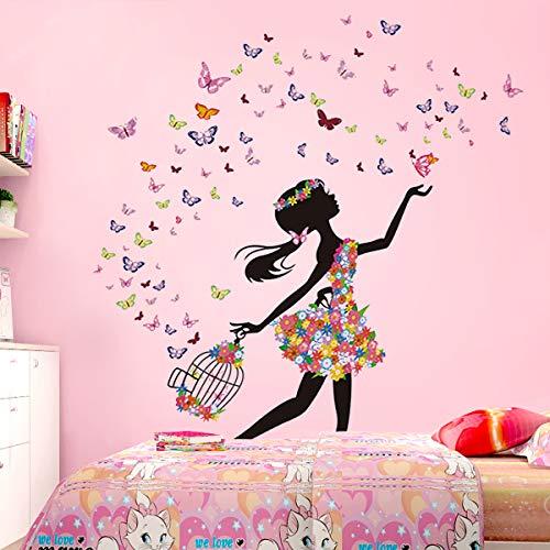 DEKOSH Girl Wall Decals for Baby Nursery   Peel & Stick Decorative Wall Art Sticker for Teen Girl Bedroom, Playroom Mural