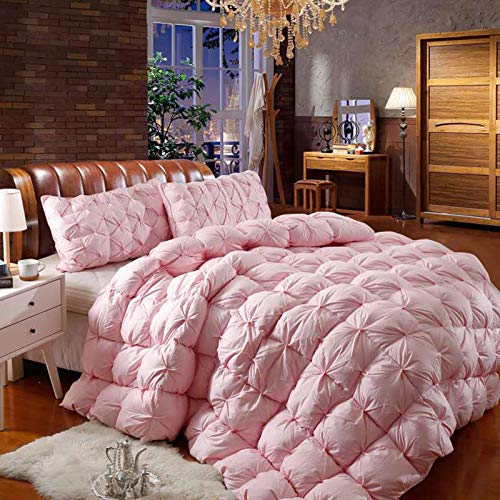 Comforters All-Season Goose Down Duvet,Soft Hypoallergenic Cotton High-density Fabric With Corner Tabs,Medium Warmth Breathable Durable Quilt Queen ZX