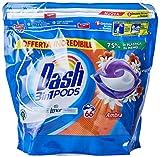 Dash Allin1 - Detergente para lavadora en cápsulas ámbar, Maxi formato 2 x 66, 132 lavados
