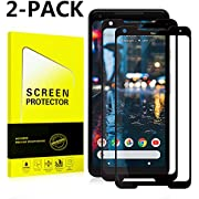 Google Pixel 2 XL Screen Protector [Easy to Install][HD - Clear][Case Friendly] Tempered Glass Screen Protector Compatible with Google Pixel 2 XL [2PACK][Black]