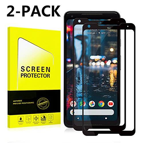VAGAVO Google Pixel 2 XL Screen Protector [Easy to Install][HD - Clear][Case Friendly]Tempered Glass Screen Protector for Google Pixel 2 XL [2PACK][Black]