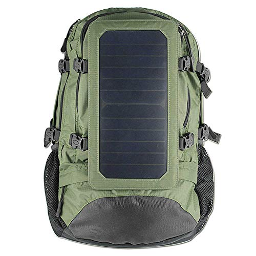 Solar Backpack Outdoor Sports Travelling Daypack With Usb Charger Port Hiking Bag Men And Women Charging Solar Panel Backpack-ArmyGreen-onesize