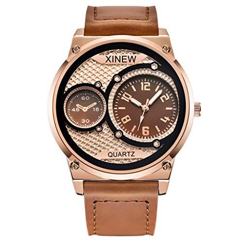 COOKI Men's Watches Fashion Business Luxury Wristwatch Analog Quartz Casual Dress Watch Stainless Steel Watch with Calendar