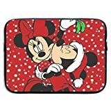 CHLING Micky Mouse and Minnie Xmas Neoprene Laptop Sleeve Case Bag Cover Compatible 13-15 Inch MacBook Pro/MacBook Air/Notebook