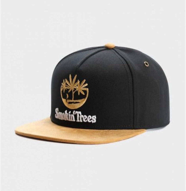 a8f3a02f70418f WYKDA Brand Smokin' Trees Cap Black Hip hop Snapback hat Spring for Men  Women Adult