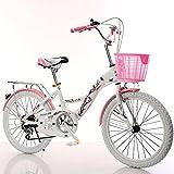 CivilWeaEU- Bicicletas para niños, 6-8-10-14 año Viejo Carro de bebé 20/22 Pulgadas niña Colegiala señora Bicicleta (Color : White Tire, Tamaño : 20 Inches)