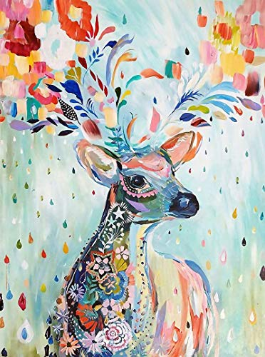 5D Diamond Painting Kits by Number Round Full Drill for Beginner Adult Kids for Home Wall Decor 12x16inch Goat Decoration Crystal Rhinestone Embroidery Art Craft