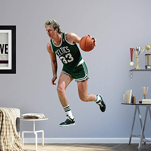 Fathead NBA Boston Celtics Larry Bird - Life-Size Officially Licensed NBA Removable Wall Decal