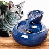 Donpow Fontanella per Animali Domestici USB Animali Domestici Dispensatore dacqua Ceramica a circolazione Automatica Fontanella Ciotola per Cani Gatti