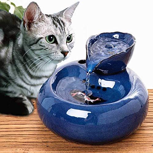 Donpow Haustierbrunnen USB Haustiere Wasserabgabe Keramik Automatische Zirkulation Trinkbrunnen Wasserschale für Katzen Hunde