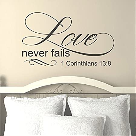 Love Never Fails v3 Wall Decal
