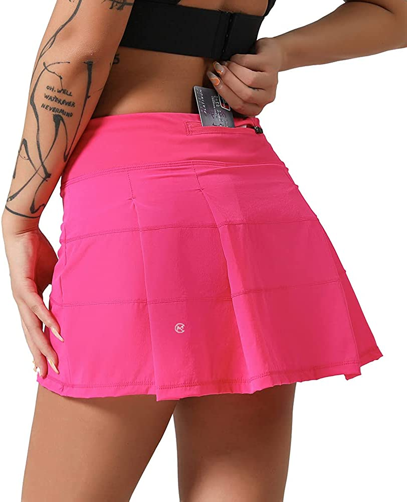 MCEDAR Athletic Tennis Golf Skorts Women Max 47% OFF Pocket with New arrival Skirts for