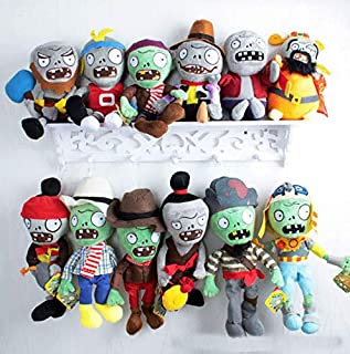 RAFGL 5Pcs/Lot Plants Vs Zombies Plush Toys Soft Stuffed Toys 30Cm DIY PVZ Zombies Plush Toy Doll for Kids Children Xmas Gifts Sa1219 Must Have Toys 5 Year Old Girl Gifts Boys Favourite Characters
