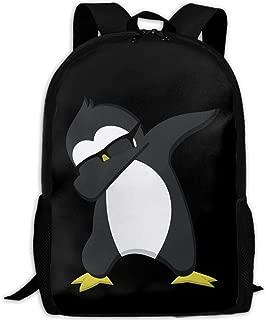 Funny Dabbing Penguin Unique Outdoor Shoulders Bag Fabric Backpack Multipurpose Daypacks For Adult