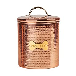 Amici Pet A5AN835R King Charles XL Amici Home Copper Dog Food Canister-104, X-Large/104 oz