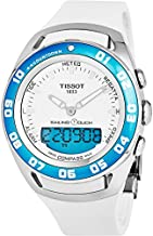 Tissot T-Touch Sailing Touch Multi-Function GMT Perpetual Calendar Analog Digital Alarm Watch - Chronograph Stopwatch, Countdown, Compass, White Rubber Band Luminous Swiss Watch T056.420.27.011.00