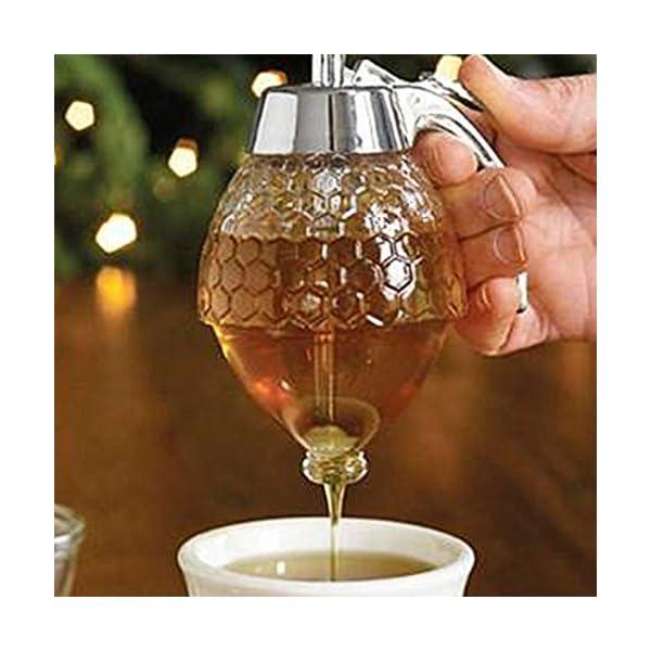 Helmay – Dispensador de miel de cristal transparente