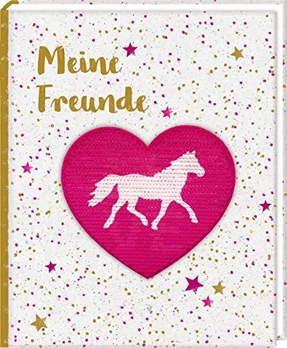 Freundebuch – Pferdefreunde – Meine Freunde: mit Wendepailletten-Patch