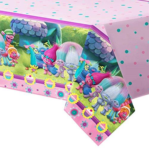 Girls Toddlers Pre School Geburtstagsparty Feiern Dekorationen Papier Geschirr Zubehör Die Trolle Mohn & Freunde (Tischtuch)