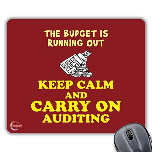 CP496 Het budget loopt uit Keep Calm en dragen op Auditing Nieuwigheid Gift Gedrukt PC Laptop Computer Mouse Mat Pad