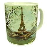 Souvenirs de France-Tazza Paris Tour Eiffel e Seine