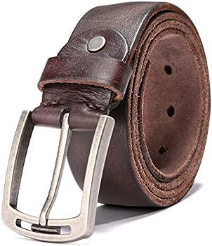 Keecow Men's 100% Italian Cow Leather Belt
