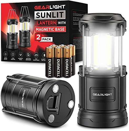 GearLight LED Camping Lantern Sunlit 2 Pack Battery Powered Lamp Lanterns for Emergency Power product image