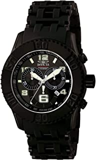 Men's 6713 Sea Spider Collection Chronograph Black Ion-Plated Stainless Steel Watch