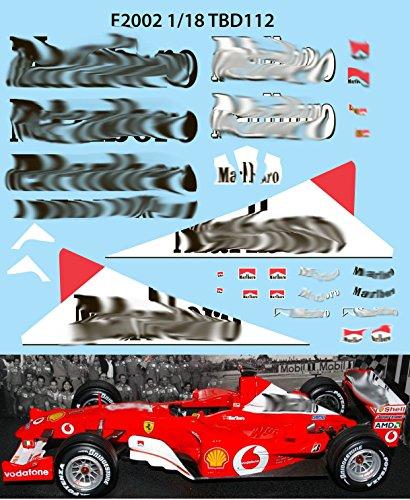 1/18 Ferrari F1 F2002 F 2002 Michael Schumacher Sponsor Decals TB Decal TBD112