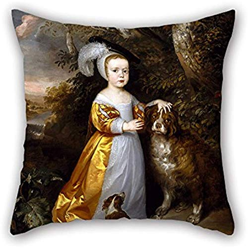 La pintura al óleo atribuida a Jan Weesop - Esm & Atilde; Stuart, 5 ° Duque de Lennox y 2 ° Duque de Richmond (1649-1660) Funda de almohada de regalo de decoración para el festival
