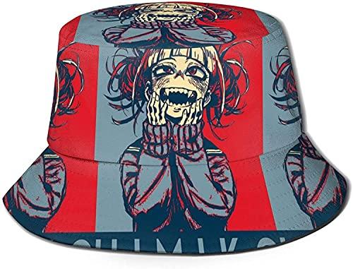 HESMENO My Hero Academia Mina Ashido Bucket Hat Unisex Sombrero de Sol Protección Gráfica Transpirable Sombrero de Pesca