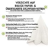 GRUBly Servietten Hochzeit Weiss   Stoffähnlich [50 Stück]   Hochwertige Hochzeitsservietten, Weisse Tischdekoration für Geburtstag, Feiern, Weihnachten   40x40cm   AIRLAID QUALITÄT - 5