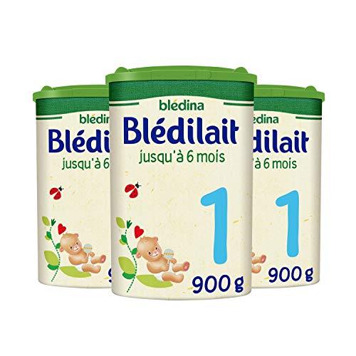 Blédina Blédilait 1, Lait en Poudre pour bébé , De 0 à 6 Mois, 900g (Boîtex3)