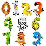 YIKEF XUNKE Animaux numéros décorations Ballons, Ballons pour Anniversaire, Mariages, fête décorations de fête de Douche de...