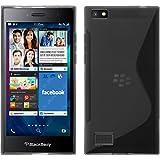 PhoneNatic Hülle kompatibel mit BlackBerry Leap - grau Silikon Hülle S-Style + 2 Schutzfolien