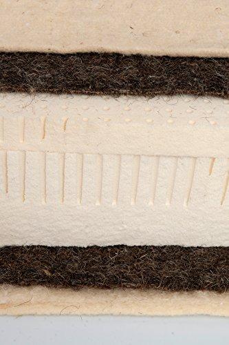 Asa Matratzen Natura Materasso 2Strati schafschurwolle 500G²/2Strati Puro crine 2000G/100% Lattice Naturale 16cm/Rivestimento: Cotone Biologico kbA con schafschurwolle versteppt