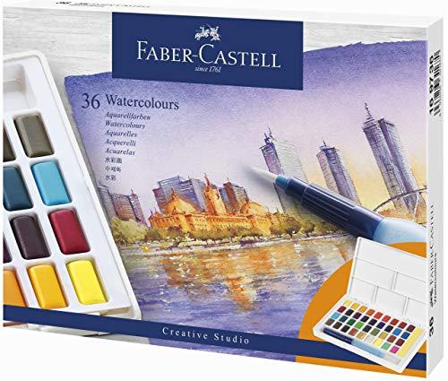 Faber-Castell 169736 - Estuche con 36 acuarelas creative studio.