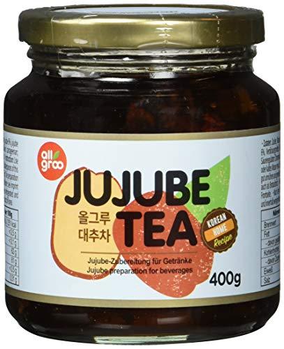 Allgroo Jujube Tee — Jujube Zubereitung für Tee oder als Brotaufstrich, vegan und glutenfrei (1 x 400 g)