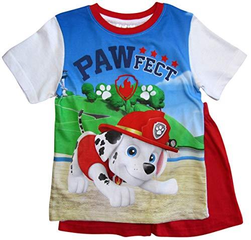 Paw Patrol Schlafanzug Kollektion 2018 Pyjama 92 98 104 110 116 122 Shortie Shorty Jungen Rot (Rot, 104-110)