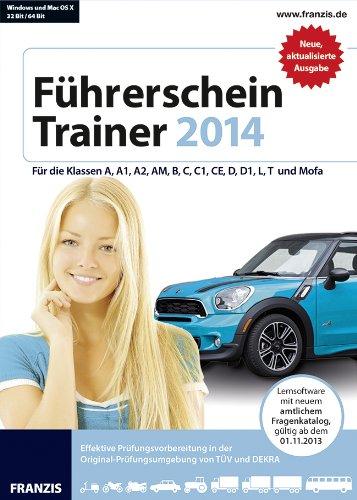 Führerschein Trainer 2014, CD-ROMFür die Klassen A, A1, A2, AM, B, C, C1, CE, D, D1, L, T und Mofa. Lernsoftware mit amtlichem Fragenkatalog, gültig ab dem 01.11.2013