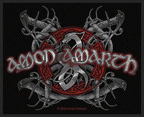 Amon Amarth Aufnäher - Viking Dog Patch - Gewebt & Lizenziert !!