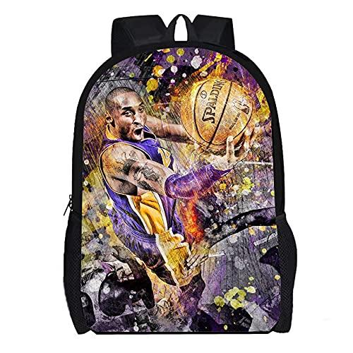 DBCJVB Mochila de moda Tela Oxford 40x30x15cm Baloncesto deportivo kobe Bryant Es un producto muy indicado para regalar.