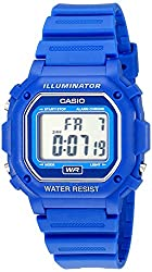 Casio F108WH Water-resistant Digital Blue Resin Strap Watch best kids watches