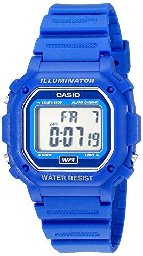 Casio F-108WH-2ACF F108WH Digitale Armbanduhr mit blauem Kunstharz-Armband