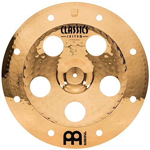 Meinl Classics Custom Brilliant 18 Zoll (45,72cm) Trash China Becken für Schlagzeug – B10 Bronze, brilliantes Finish (CC18TRCH-B)