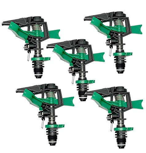 BLUEBIRD PRO0 Aspersor de riego Sectorial Fabricado en ABS, Verde/Negro