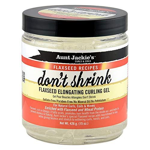 Aunt Jackie's'Don' t Shrink' - Gel per capelli ai semi di lino, per la distensione e la cura dei ricci. 426g