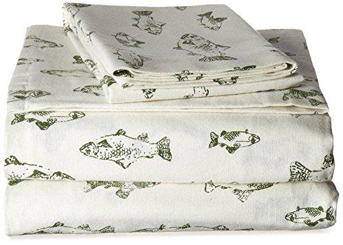 Eddie Bauer School of Fish Flannel Sheet Set, King