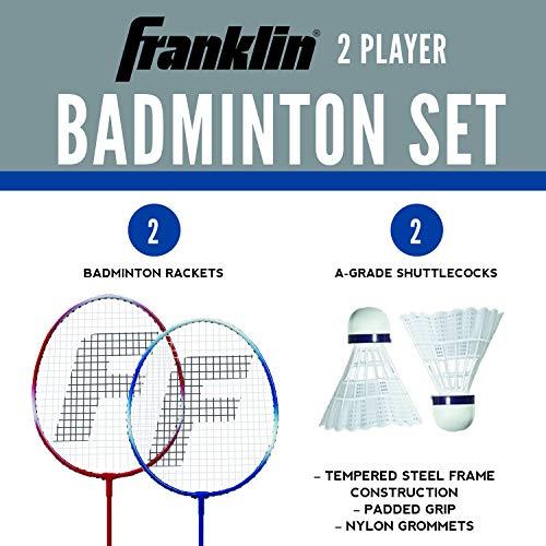 Franklin Sports 2 Player Badminton Racquet Replacement Set