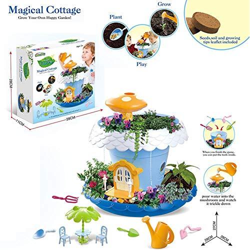 MRlegendary Pflanzen von Topf Jungen und Mädchen Spielhaus Spielzeug DIY Fairy Garden Magic House Spielhaus